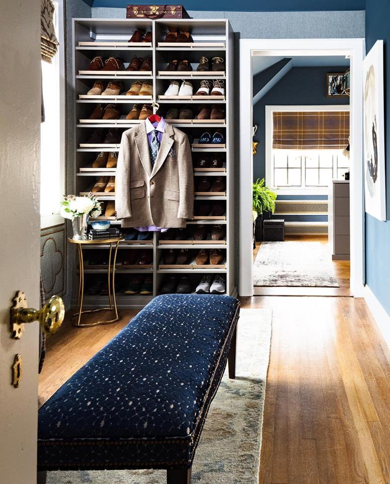 Master closet leading into dressing room