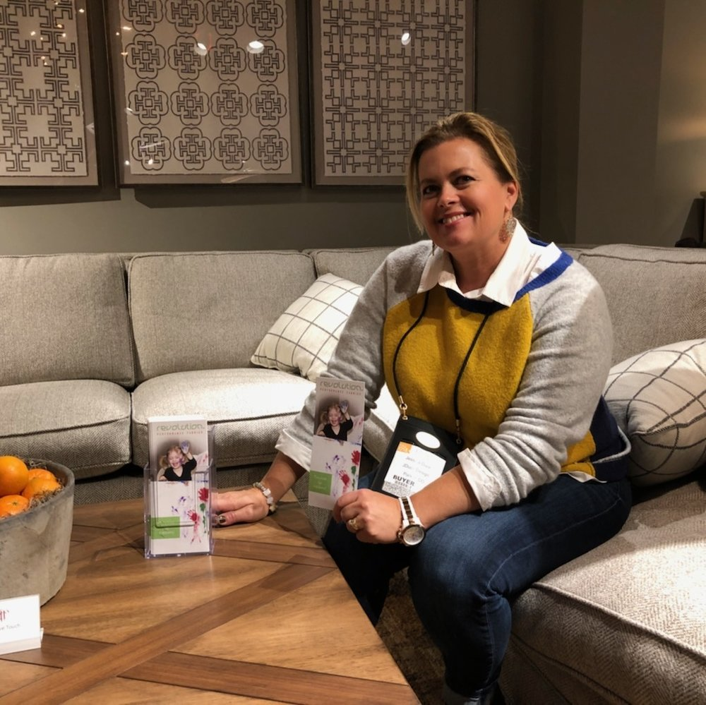 Revolution Design Ambassador,  Jessica Duce , spotting Revolution at HPMKT!