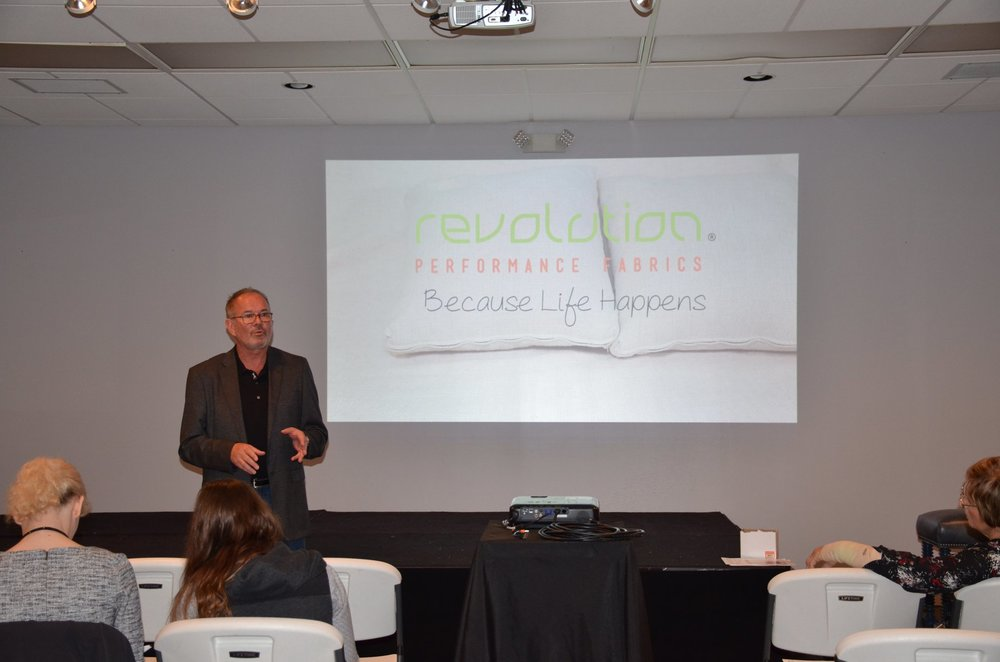 Mike Willoughby teaching the Norwalk sales staff about Revolution!