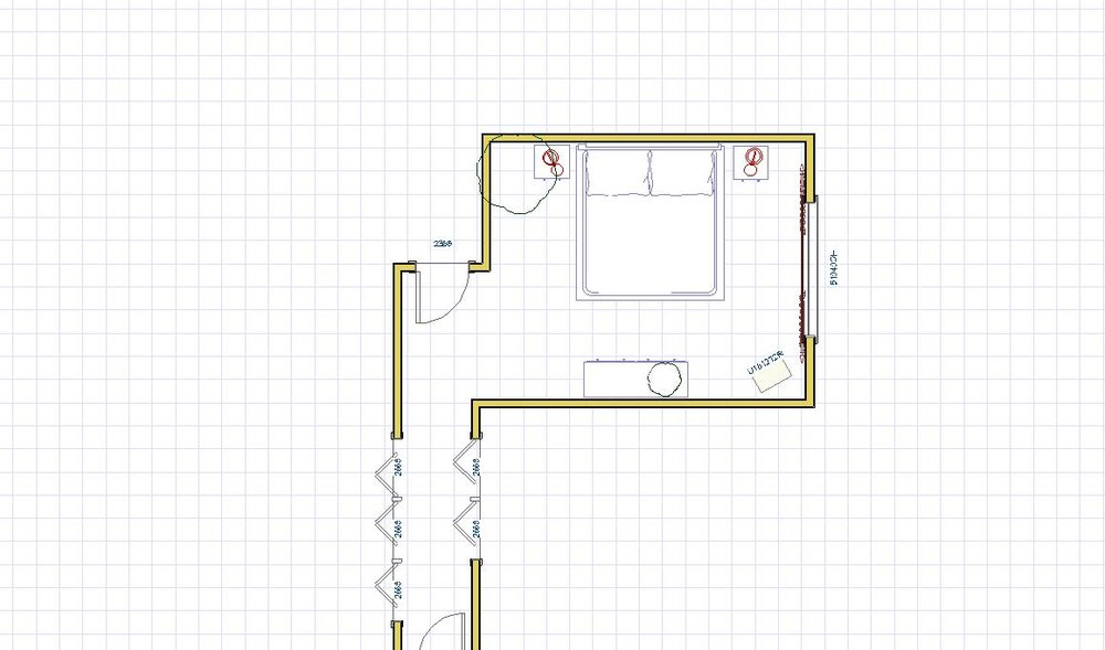 The Master Bedroom space plan