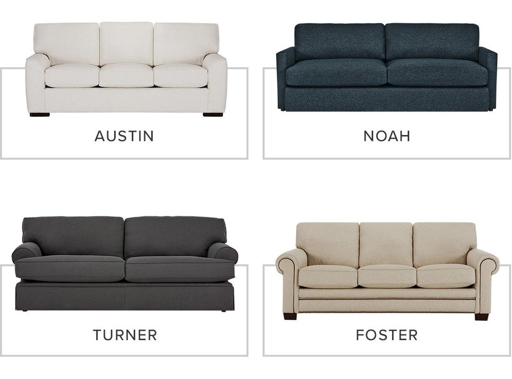 Just a few of the beautiful sofas City Furniture manufactures with Revolution fabrics!