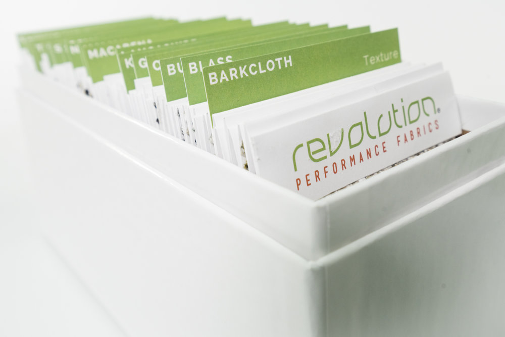 Revolution's Cut Yardage program sample box