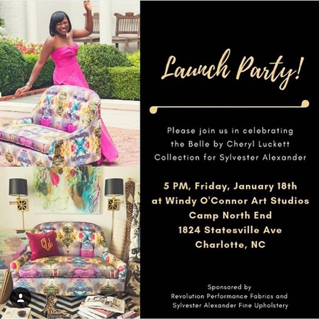Please join us this Friday @campnorthend for the Belle by Cheryl Luckett Collection for @sylvesteralexanderfurniture. It's going to be a fun one! Cheryl will be showcasing her furniture line in the @windyoconnorart space at @campnorthend. We cant wait !!❤️🙌#belle #dwellbycheryl #revolution #sylvesteralexander #interiordesign #interiorspace #furnituredesign #furniture #performancefabric #upholstery #upholsteryfabric