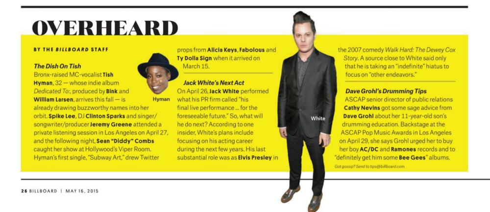 Excerpt from Billboard Magazine