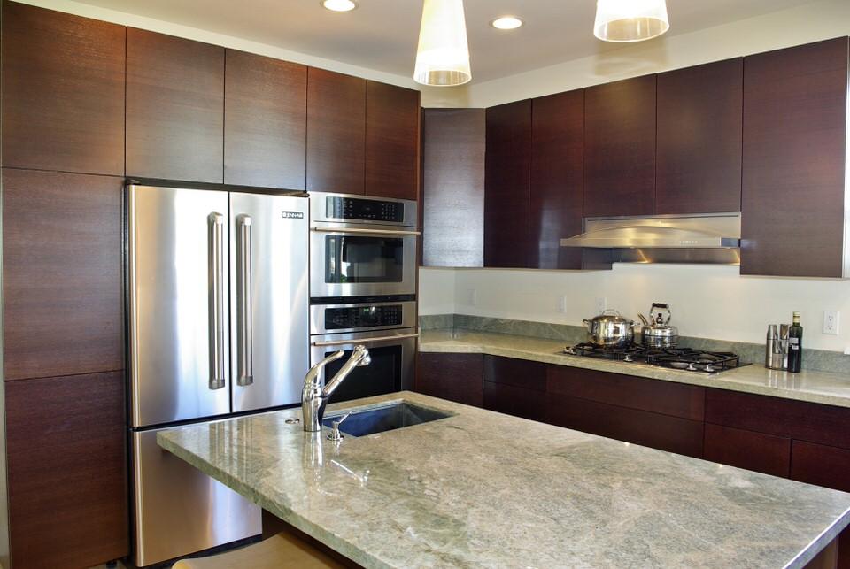_HOMEWenge Veneered Kitchen with Granite counter top.jpeg