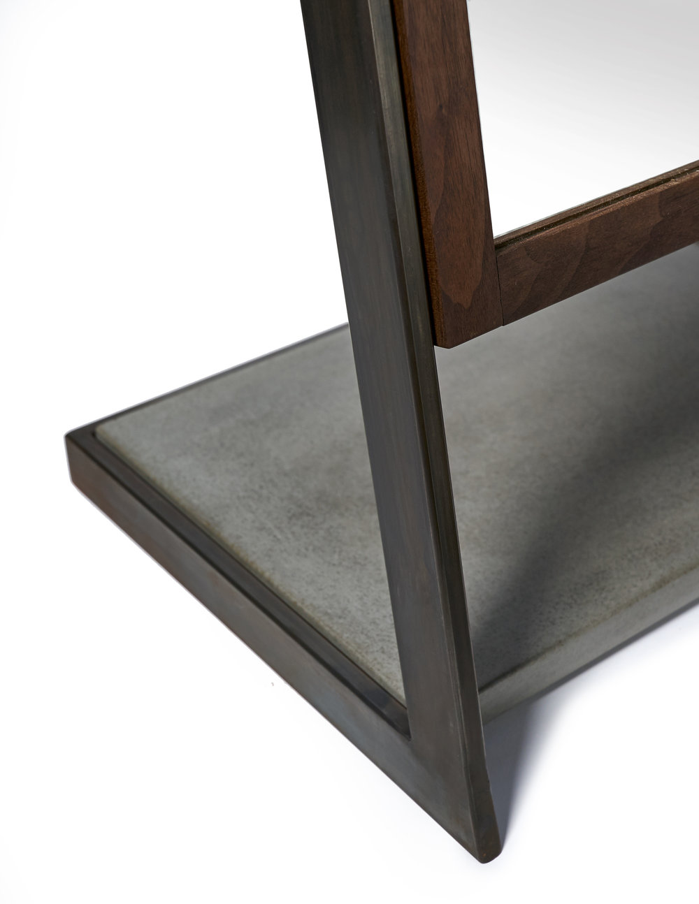 Charcoal Concrete Inlay