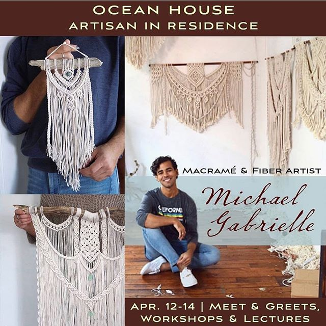 a little bit of exciting news - I'll be spending this upcoming weekend back in RI at the Ocean House, as this month's Artisan in Residence! . the Ocean House is an enormous historic hotel in my hometown that was built in the 1860s and lived a glorious life for over a century before years of neglect led to its closing, deemed doomed beyond reasonable repair. that's how the ocean house lives in my memory—this sort of hauntingly beautiful boarded up building, what seemed to be a castle in warm and fading shades of yellow sitting high on a hill overlooking the ocean, a monumental image of elegance and ruin. I remember dreaming up stories of the people who might have stayed there once, the life that this building once lived. They've since reconstructed the Ocean House to it's former glory, and god it's beautiful - five stars of all kinds, views that could make you cry, salvaged pieces of the original hotel that create a sense of walking into a time capsule. I'm excited and so damn grateful to have the opportunity to show my work in this strange and beautiful place that was the source of so much imagination and inspiration for me as a kid. . The details: stop by on Friday, Saturday, or Sunday morning to see my work over coffee and treats, or come on Sunday afternoon to hear me talk a little bit about the history of knots and trying to make it as an artist (followed by wine and cheese and more treats of course). There's also workshops for adults and children if you want to learn to tie some knots of your own! You can find more info and can RSVP on the Ocean House website - link in bio.  I would really, really love to see you there 🌸