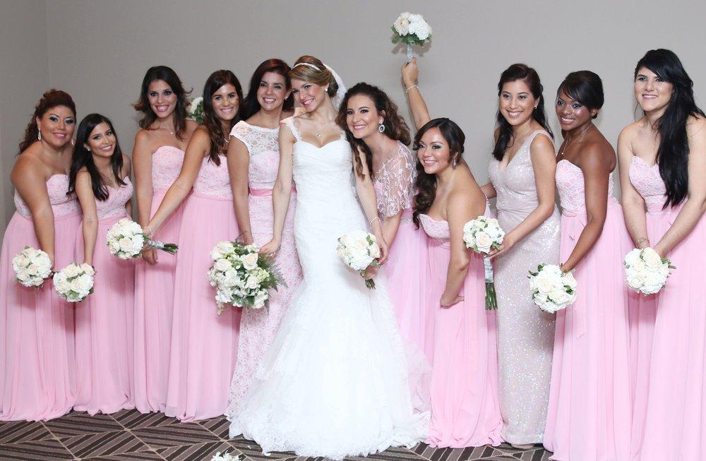 Vestidos de novia y sus damas