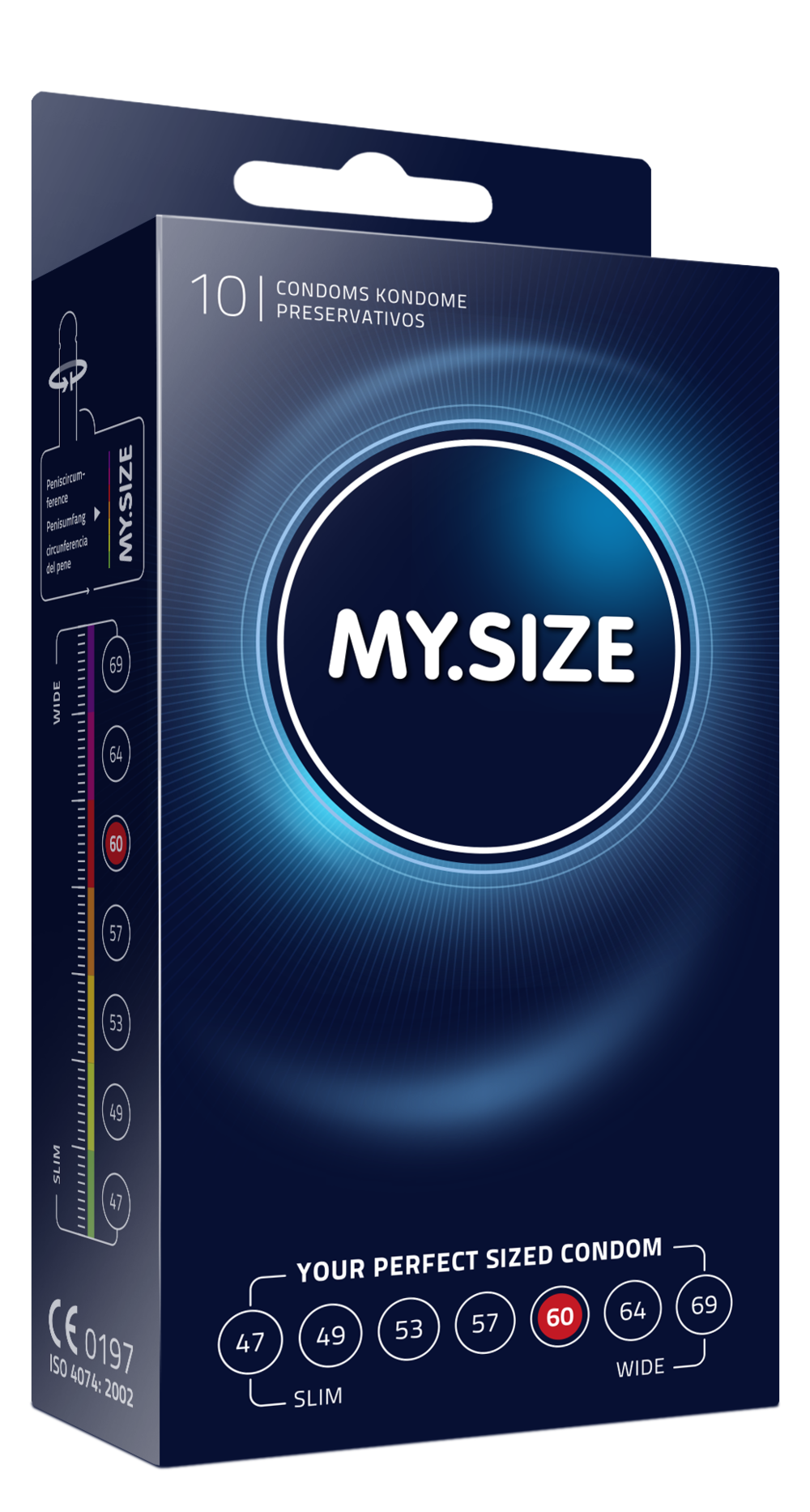 MY.SIZE condoms 10 pack size 60