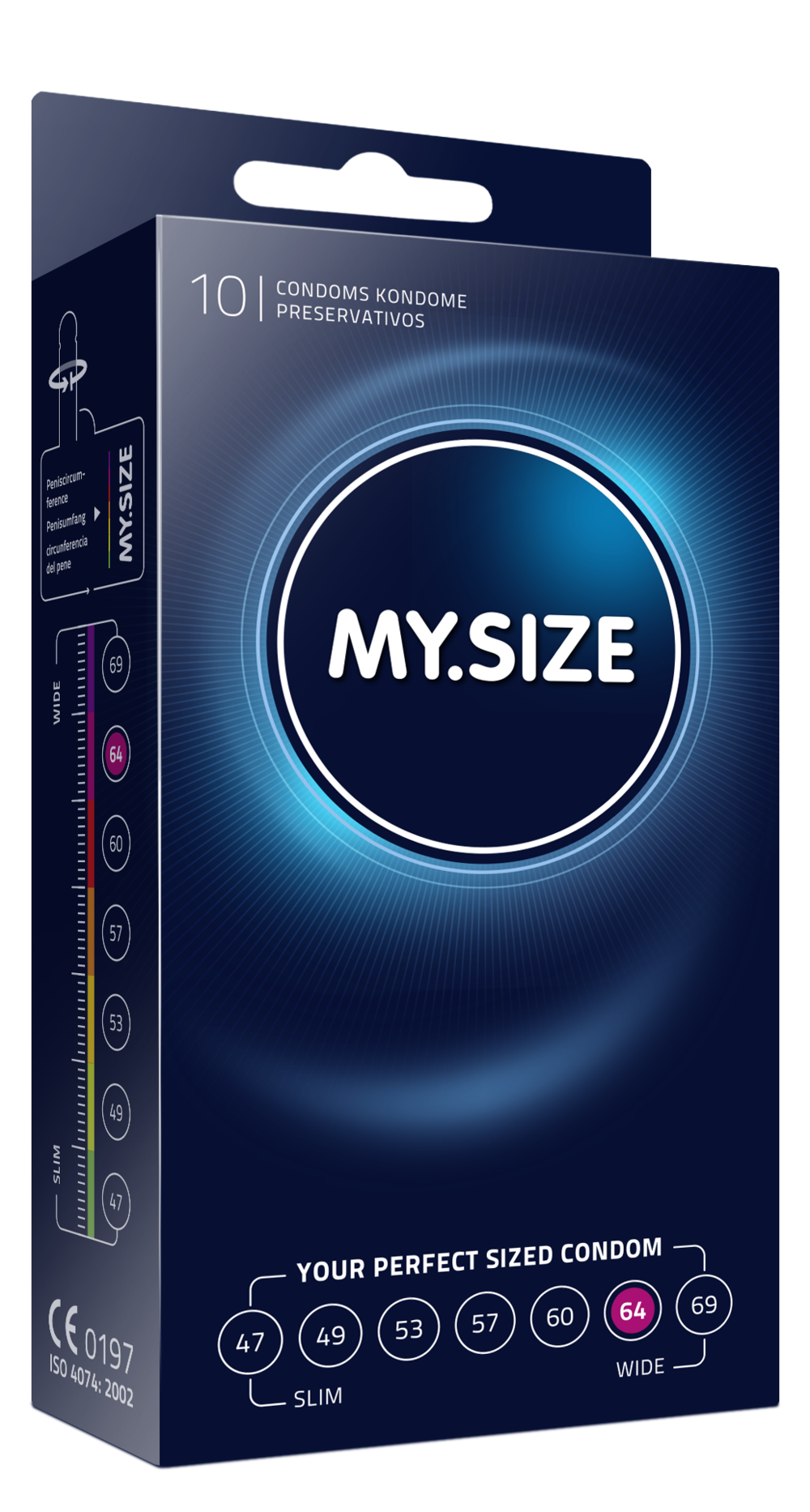 MY.SIZE condoms 3 pack size 64