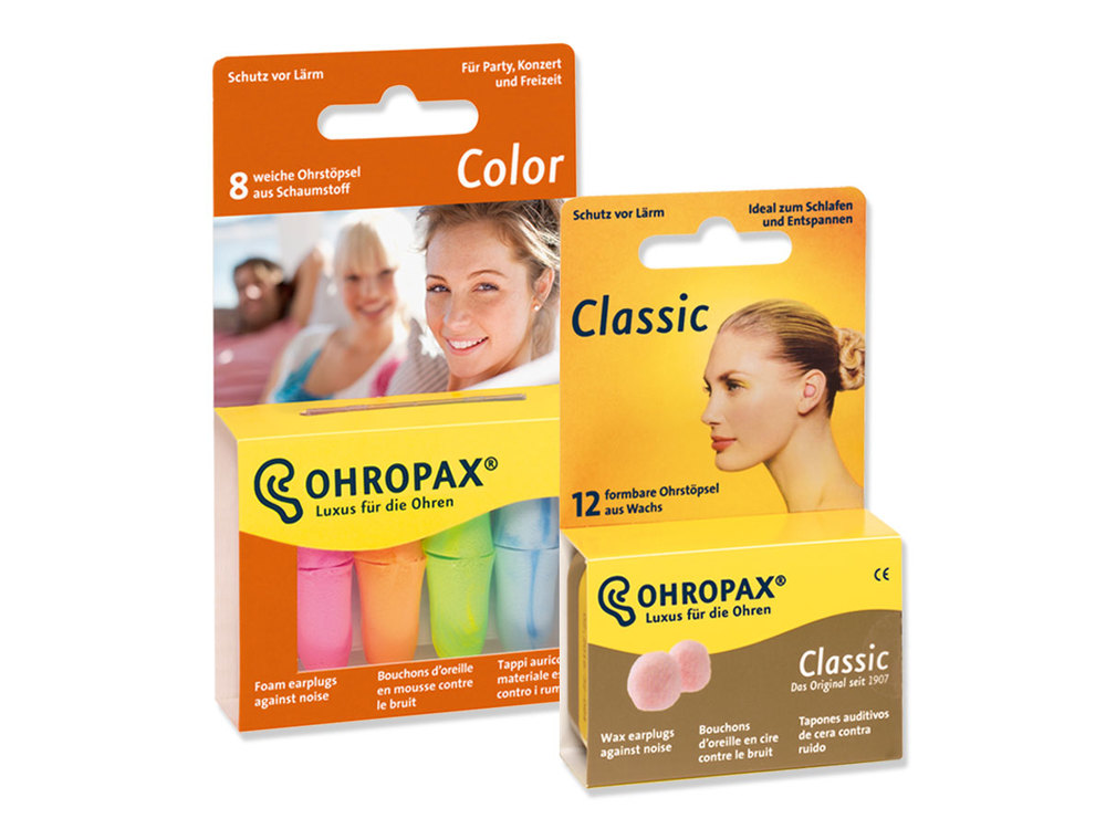 OHROPAX Color and OHROPAX Classic