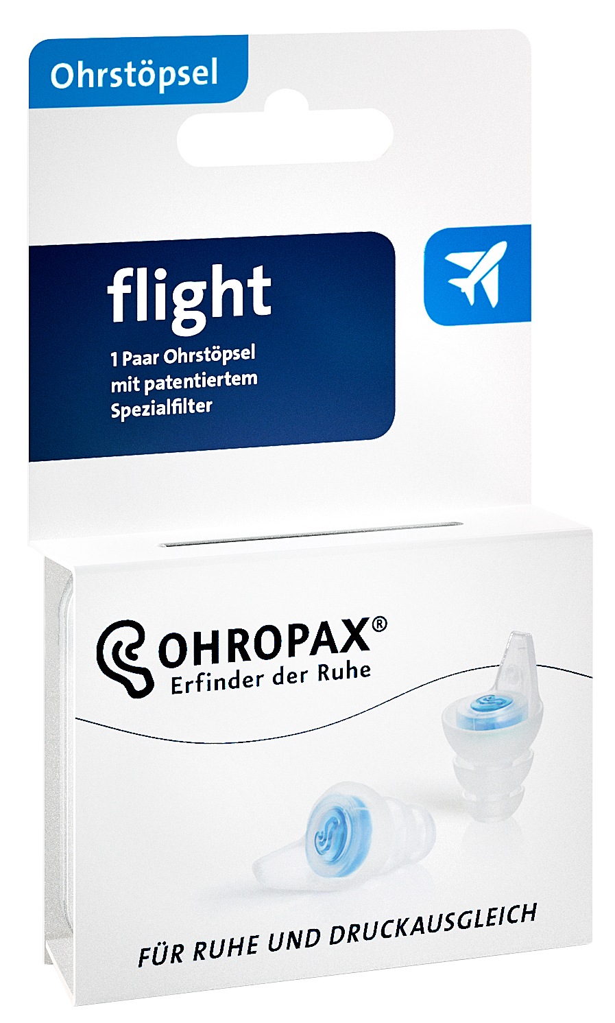 The new OHROPAX flight with patented filters for flying