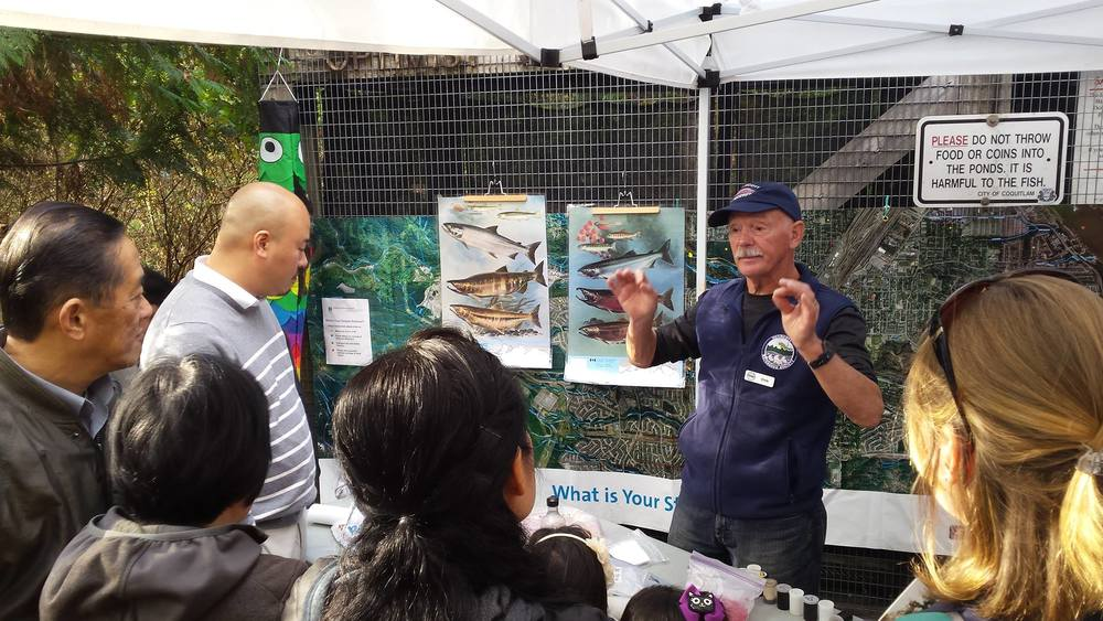 Salmon educator and founding member of Hoy-Scott Watershed Society is always around to teach people about the mighty salmon!