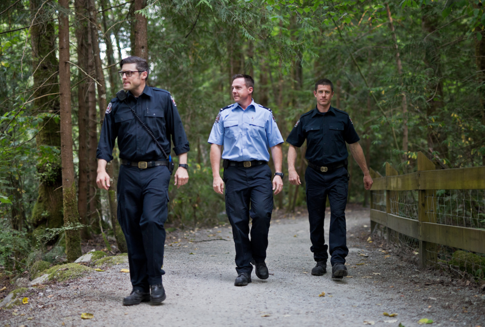 A City of Coquitlam fire / rescue crew conducting a foot patrol in a local park(City of Coquitlam photo)