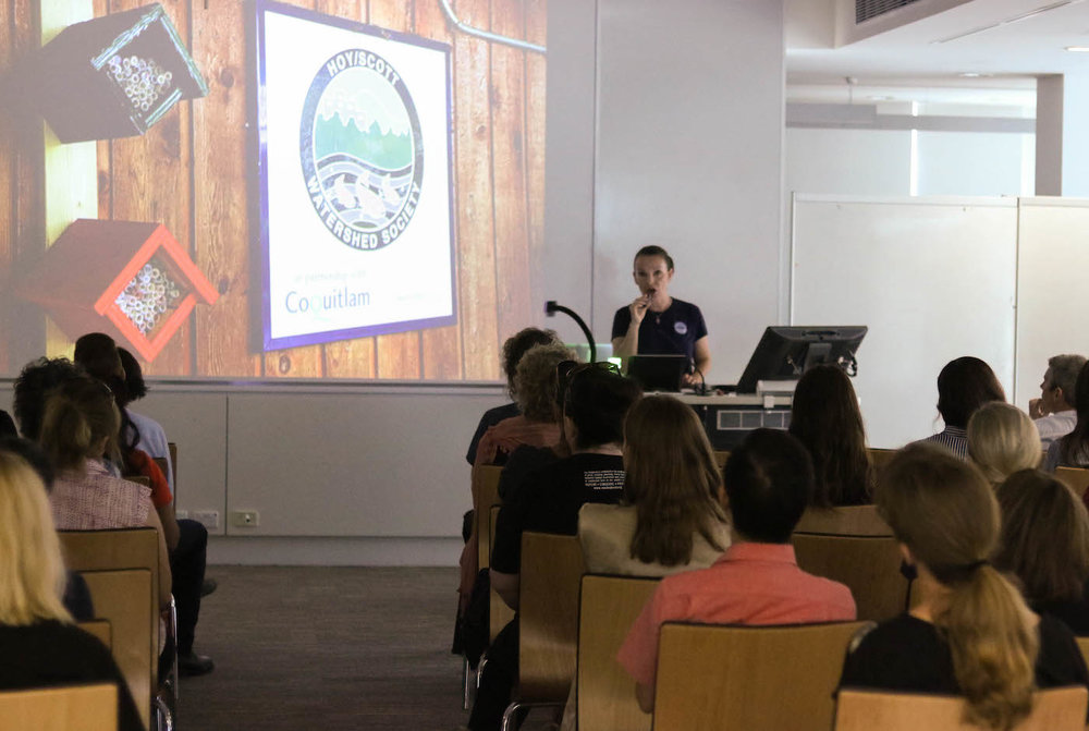 President of Hoy-Scott Watershed Society speaking in Perth, Australia on November 25, 2017 at Curtin University.  (Photo: Aiden Green for Eco Fashion Week Australia)