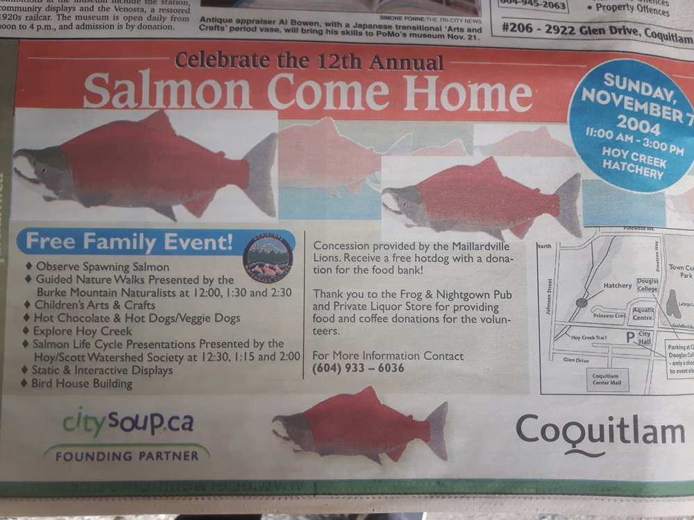 THROWBACK: A 2004 Tri-City News ad for Salmon Come Home