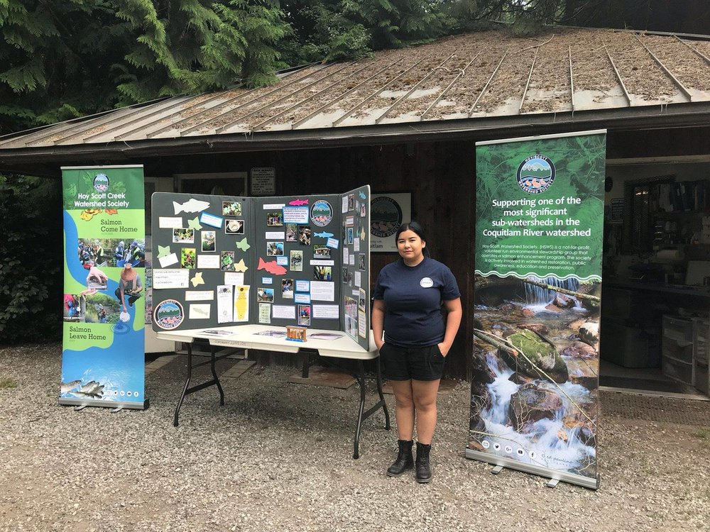 HSWS member and environtmental award recipient, Maya Uno at Hoy Creek Hatchery.