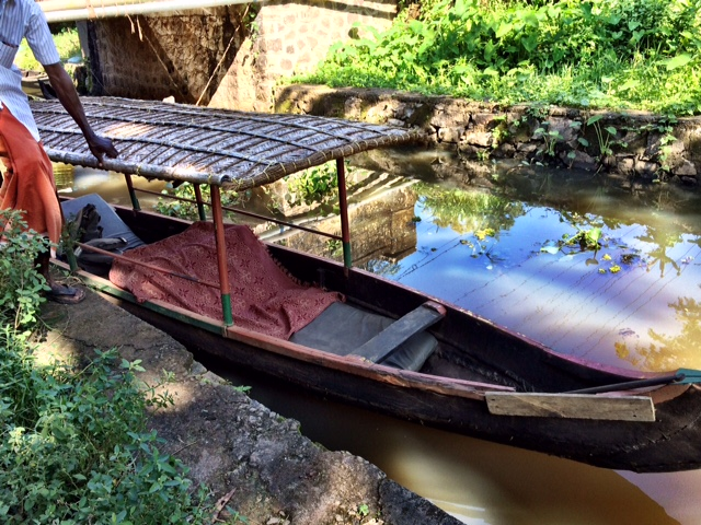 The canoe that would bring us around the backwaters Alleppey, Kerala, India