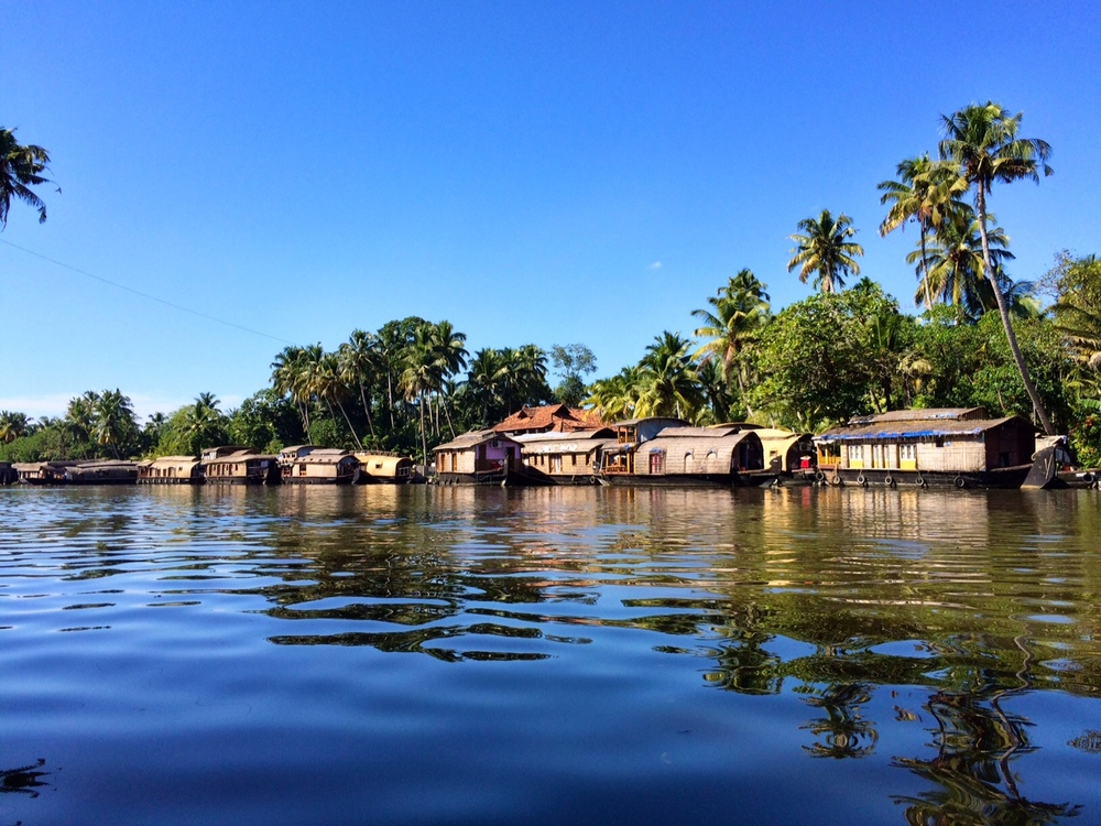 The houseboats of Alleppey Alleppey, Kerala, India
