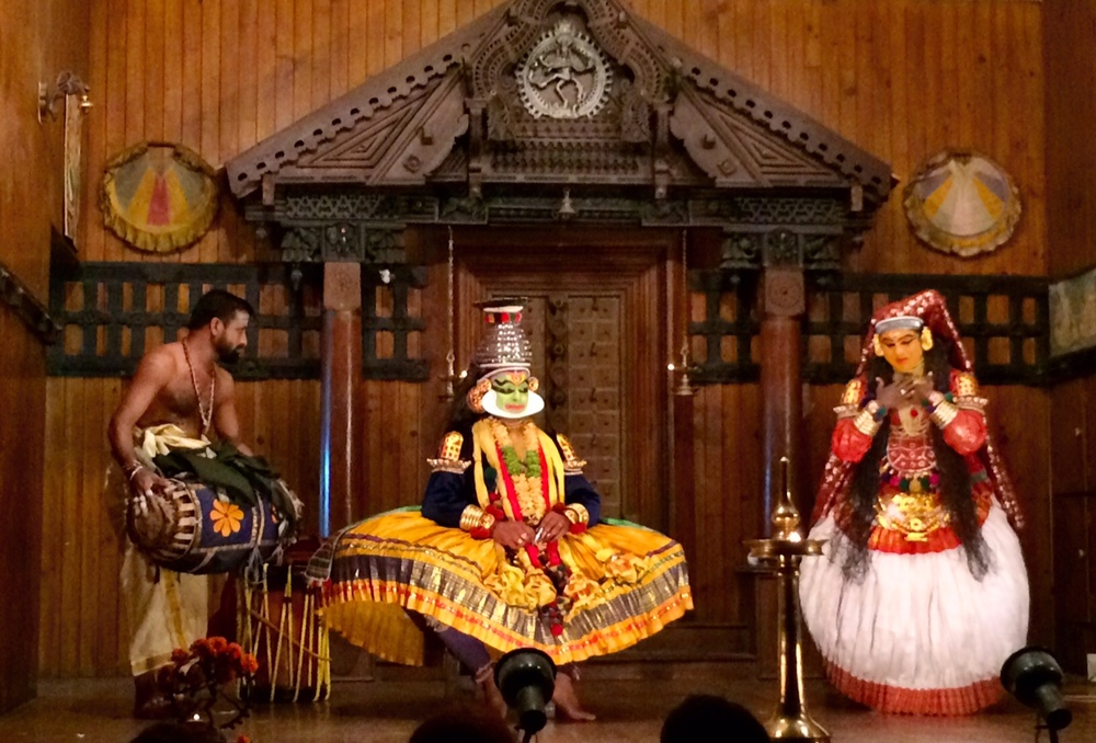 A scene from the Kathakali performance Kochi Fort, Kerala, India