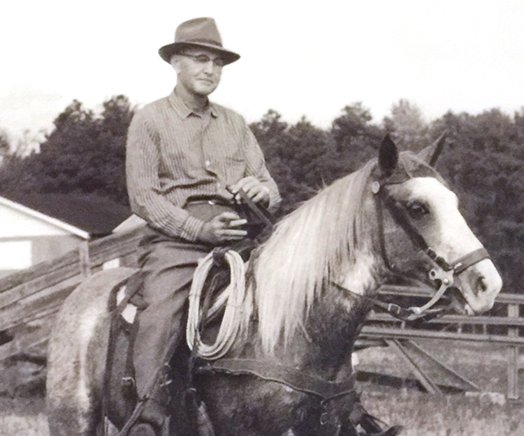 Ruben J. Fisher on his farm.