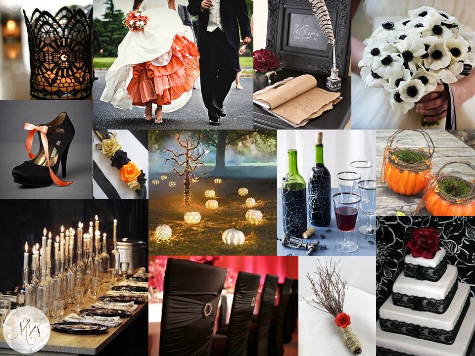 halloween wedding inspiration - Halloween Themed Wedding Reception