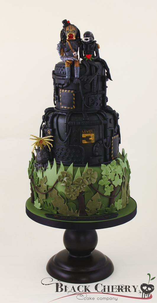 alien predator cake