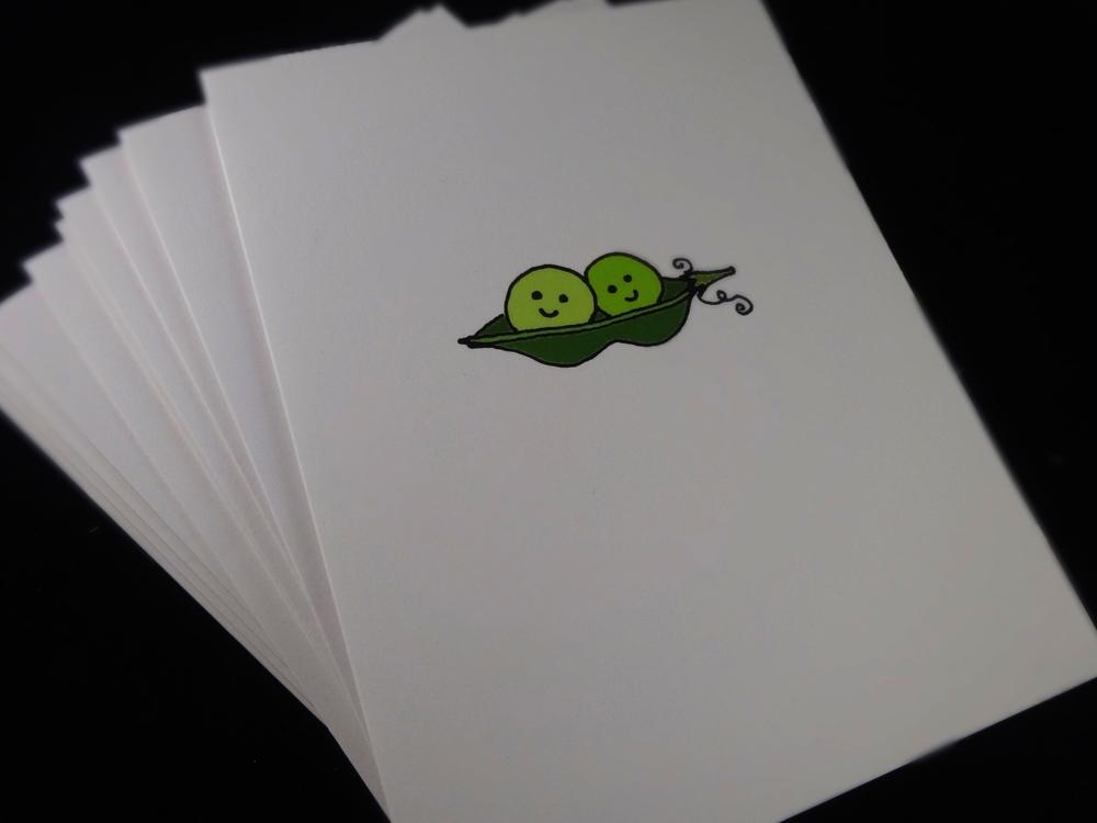 Green Peas, Original Veggie Cards