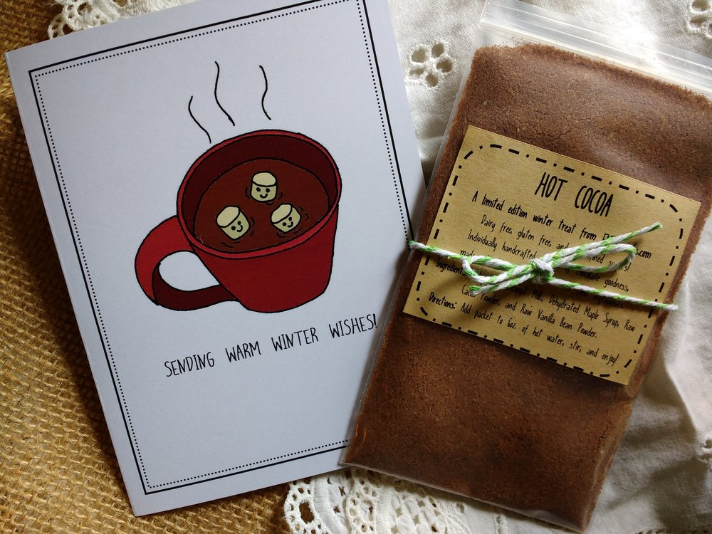 Card and Cocoa Packet