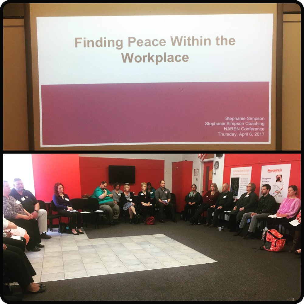 National At-Risk Education Network Conference, April 2017 -  Finding Peace Within the Workplace