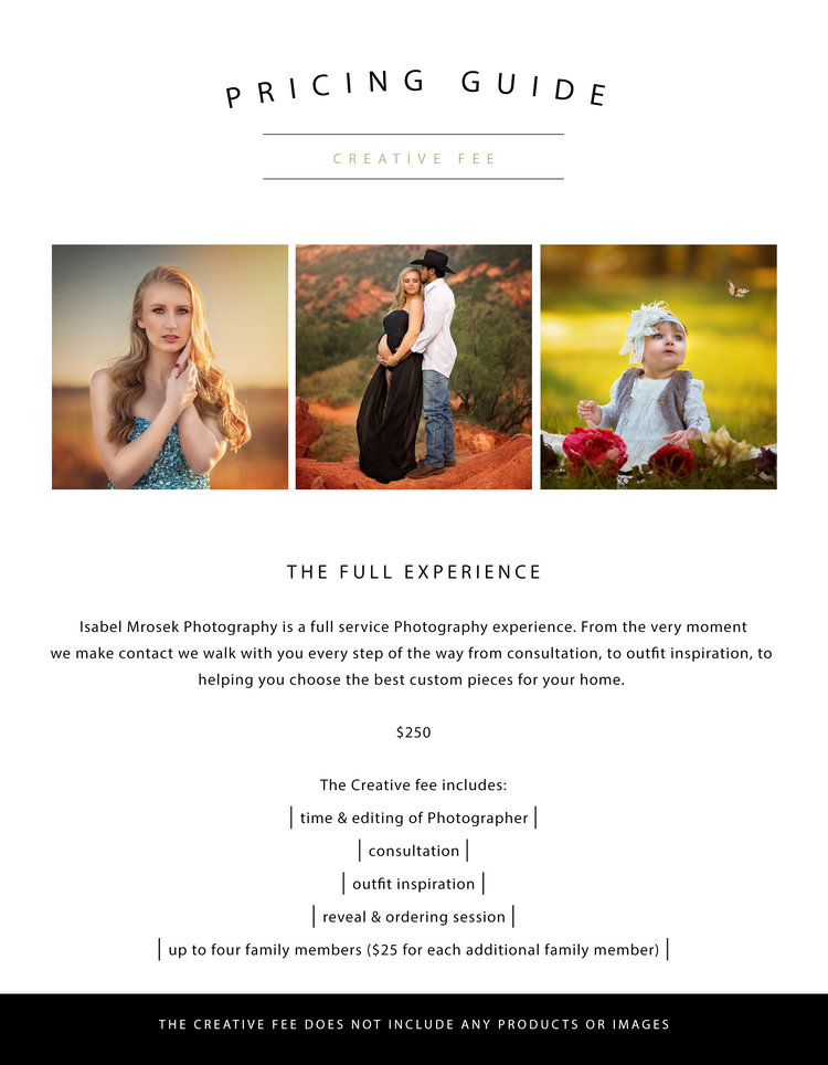 investment local photographers prices isabel mrosek photography