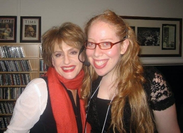 With Patti LuPone backstage while working on Stephen Sondheim's 80th Birthday Concert at Avery Fisher Hall