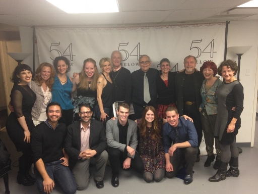 "Backstage at 54 Below, producing ""54 Sings Maltby & Shire"""