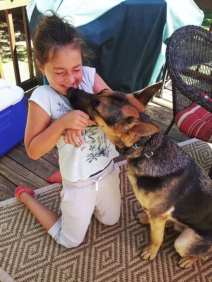 Ranger Sister giving kisses