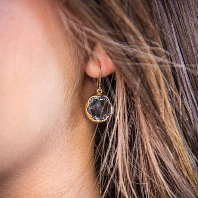 Our smoky quartz earring... A perfect way to start your Monday #shopnorajames #norajamesjewelry #handcrafted #style #lookoftheday #earringlove #boutiquestyle #boutiquejewelry #fashionblogger #jewelrydesigner