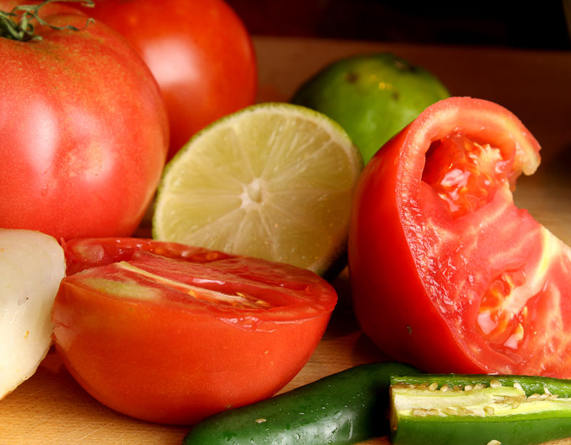 Ingredients for perfect salsa
