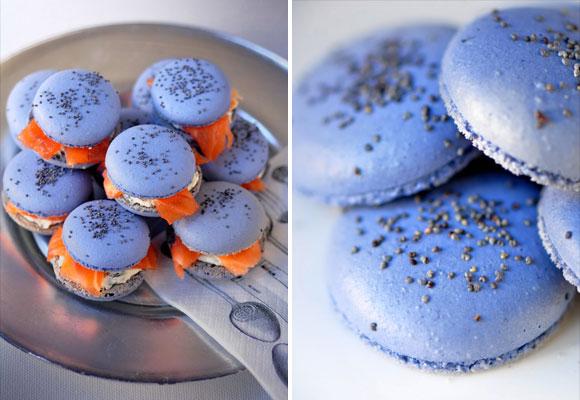Blue-Macarons