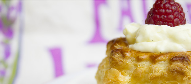 Pastry Cream in Puff Pastry