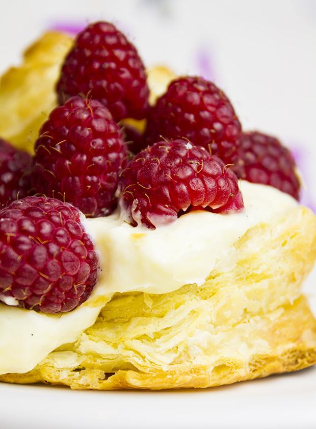 raspberries in puff