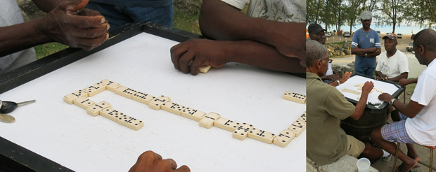 Dominoes in Barbados
