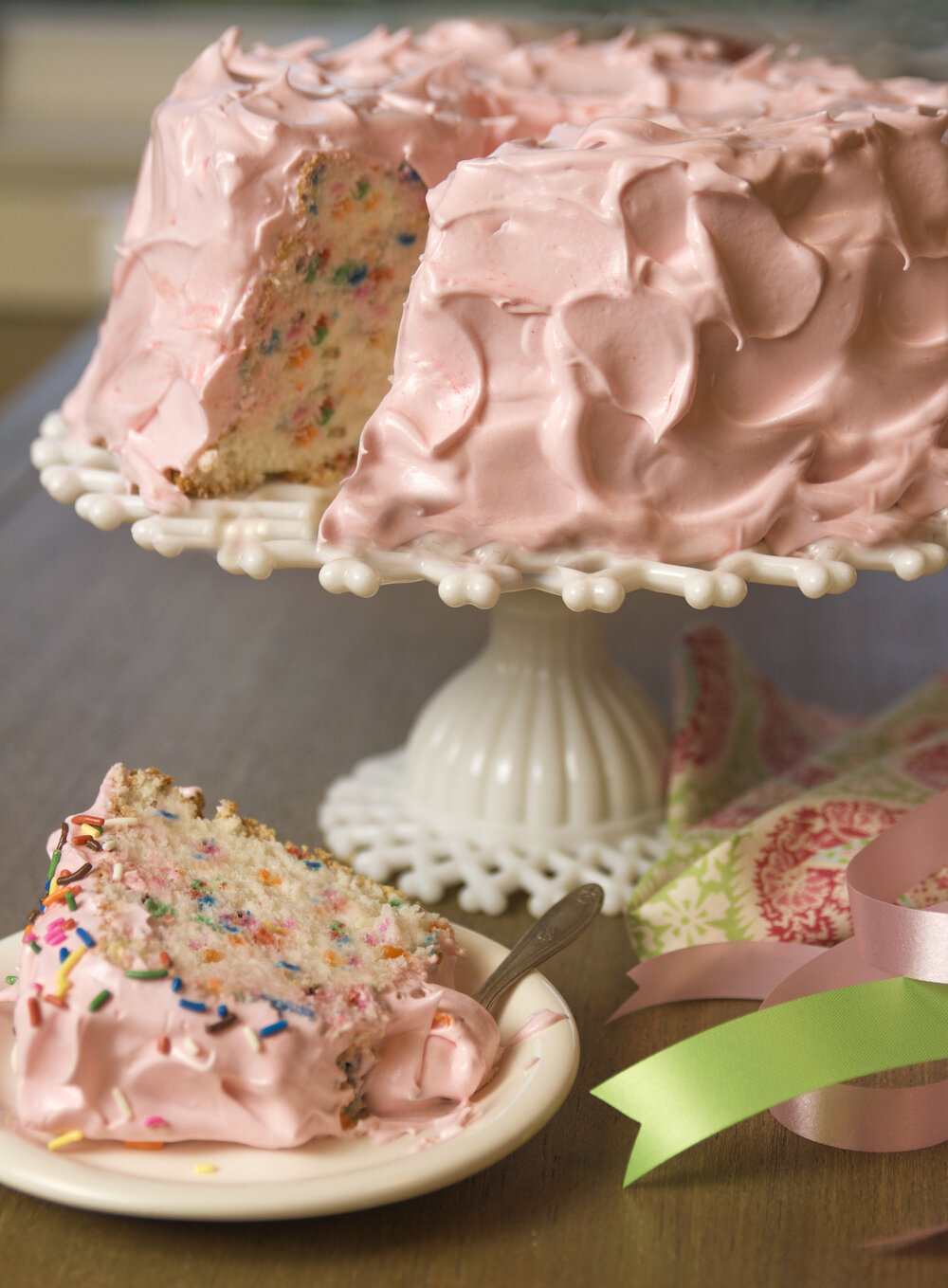 Confetti angel food cake with fluffy icing the little french bakery forumfinder Gallery
