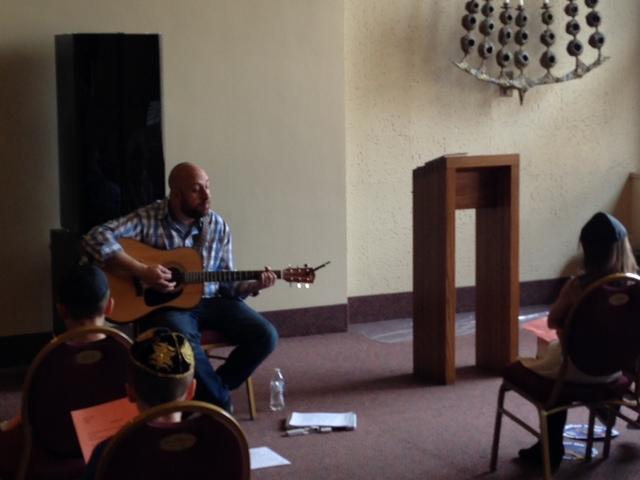 Teaching new songs to the Temple of Aaron Second Grade