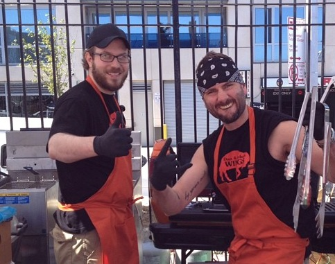 from left, John, Dan;  2013 Smorgasburg debut