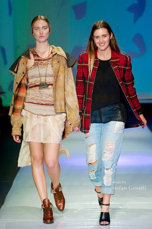 'Eco Design' Category winning design at Telstra Perth Fashion Festival, 2014. Photo: Stefan Gosatti
