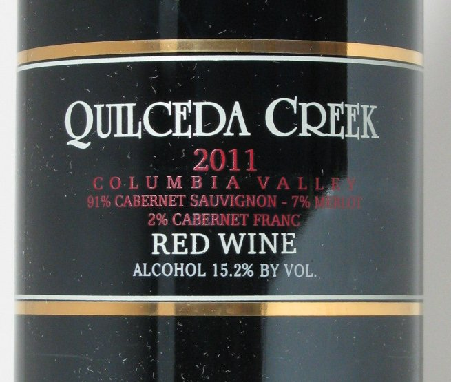 Wine of the year, the 2011 Quilceda Creek Red Wine
