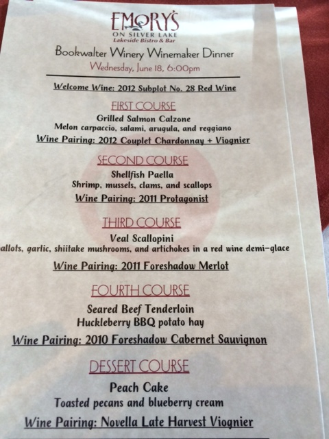 Fantastic winemaker dinners at Emorys