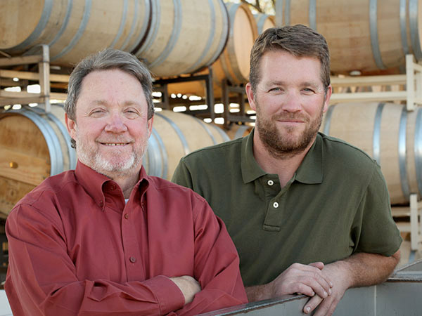 Owner of Tamarack Cellars, Ron Coleman (L) with head winemaker, Danny Gordon (R), make a great team at Tamarack