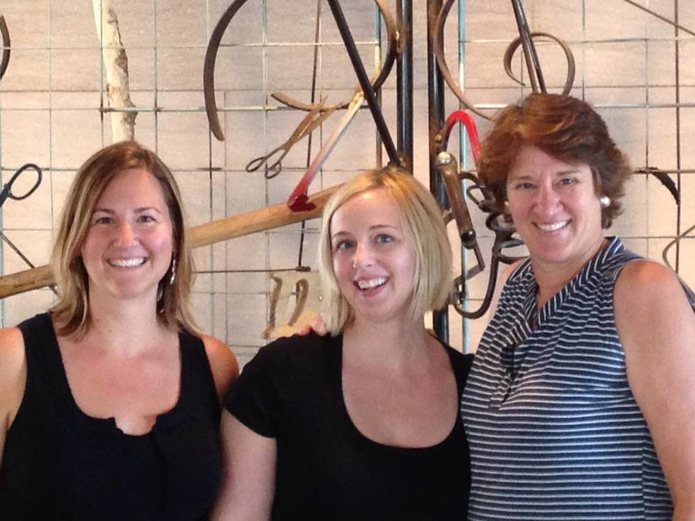Reynvaan sisters Amanda (L) and Angela (middle) created this impressive project winery, Result of A Crush