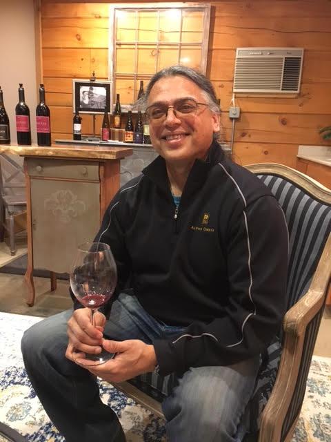 Tasting wine here with Billo Naravane, head winemaker at Rasa Vineyards