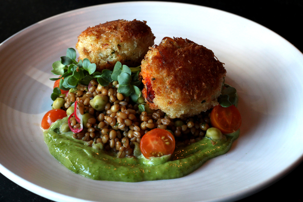 Absolutely delicious crab cakes at Etta's, one of Tom Douglas's signature dishes